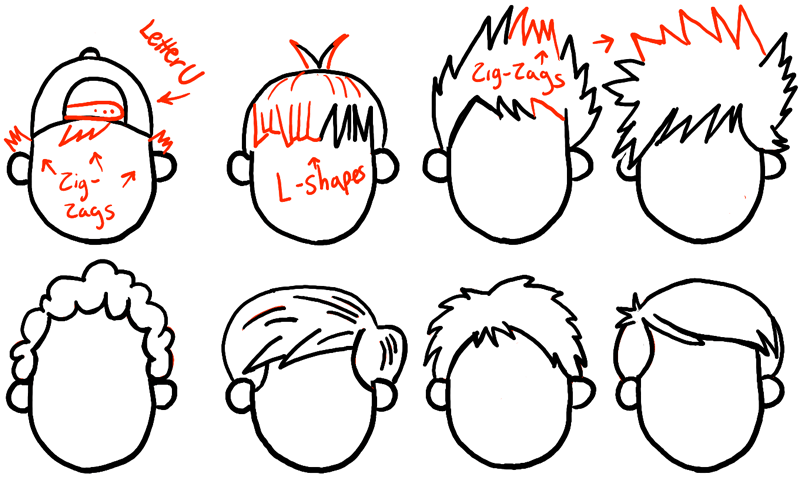 step09-howtodraw-boys-hair