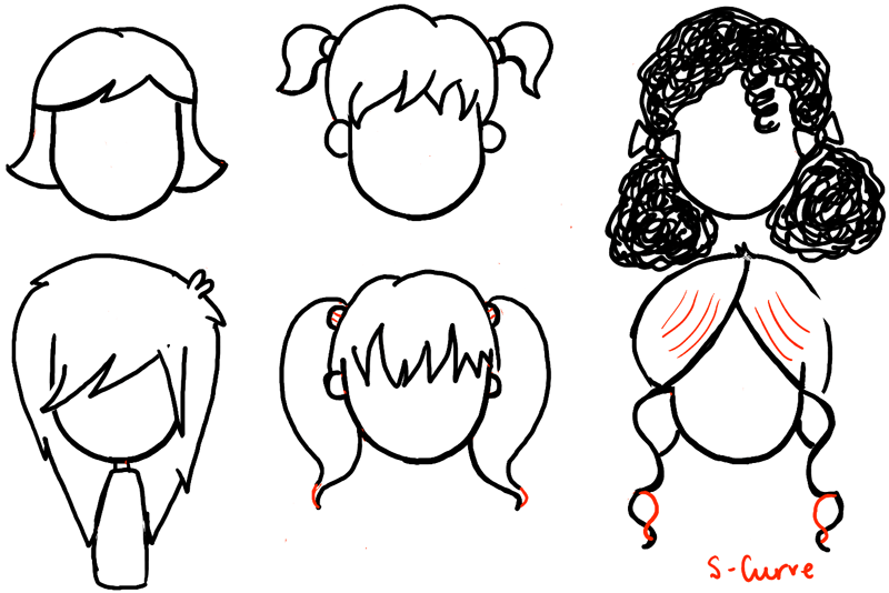 How To Draw Chibi Hairstyles For Girls Curly 36674 Loadtve