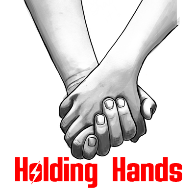 How to draw holding hands with simple step by step drawing lesson