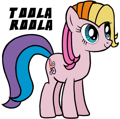 how to draw toola roola from my little pony easy step by step