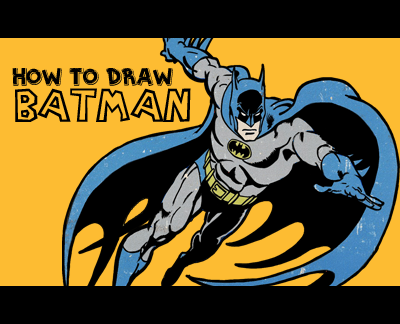 How To Draw Batman In Retro Dc Comics Style Easy Step By Step