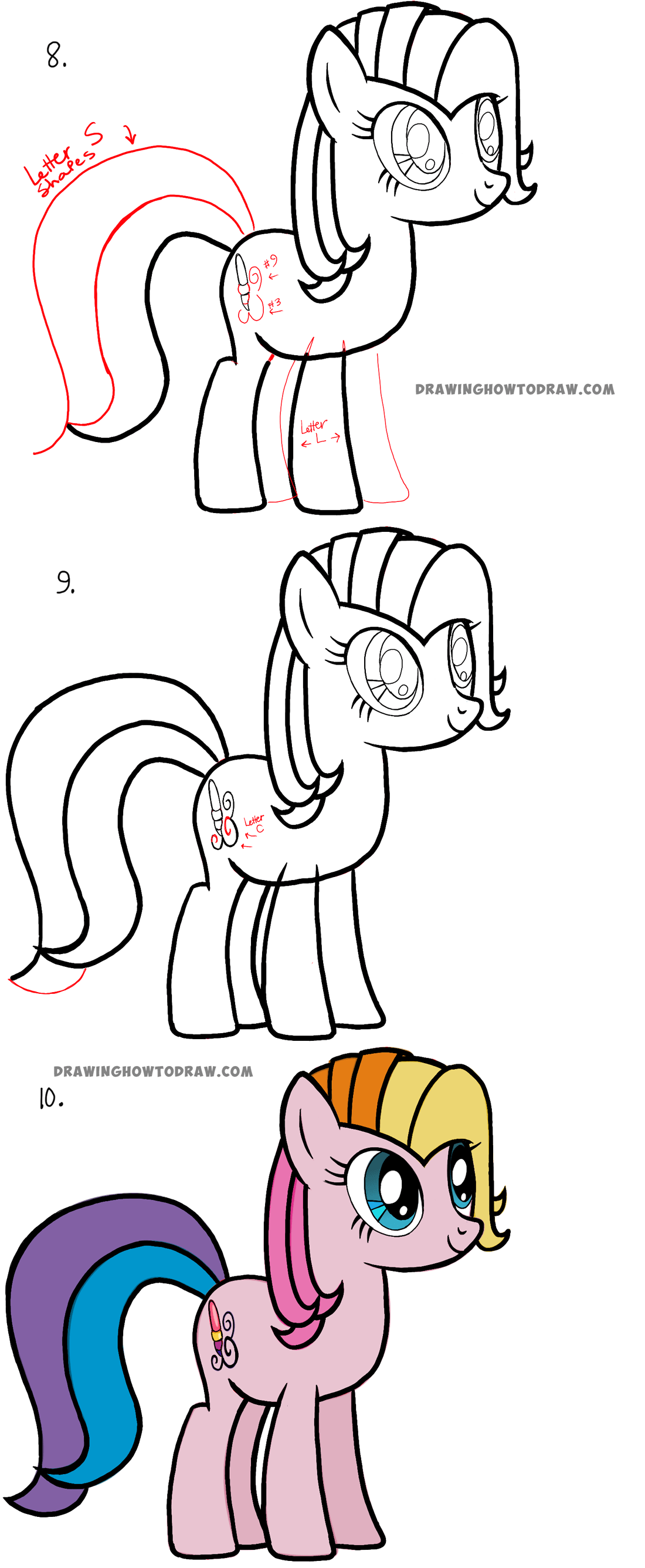 Easy Steps to Drawing Toola Roola from my little pony