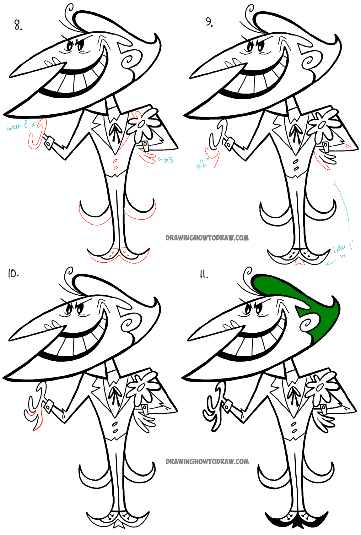 step by step drawing tutorial the joker