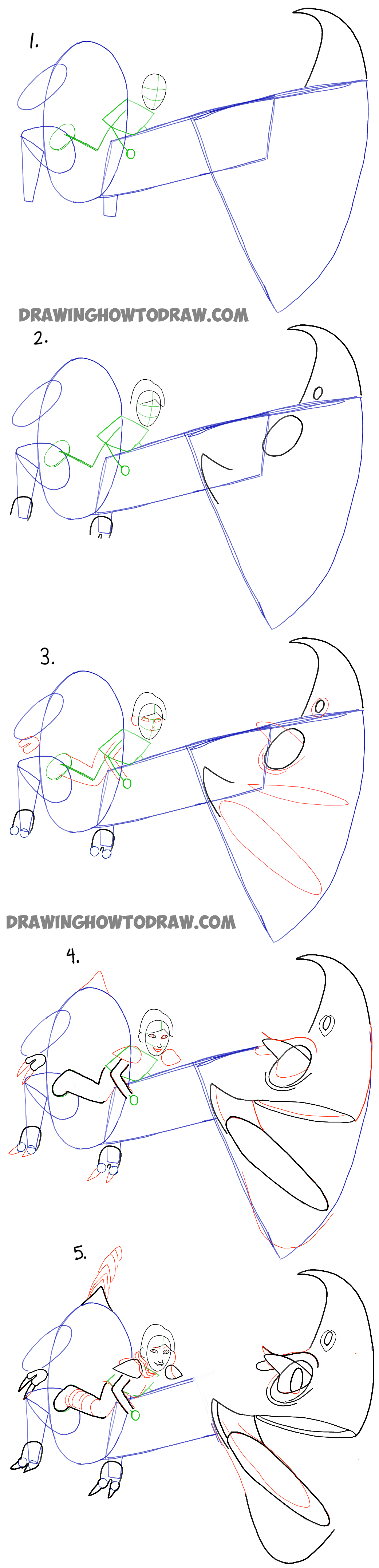Here are the Step by Step Instructions for Drawing Windshear and Heather