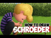 Drawing Schroeder from The Peanuts Movie