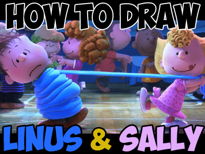 how to draw linus and sally from the peanuts movie