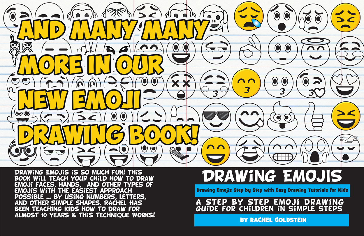 how to draw emojis and emoji faces drawing book for kids