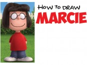 Learn how to draw Marcie from the new Peanuts Charlie Brown movie