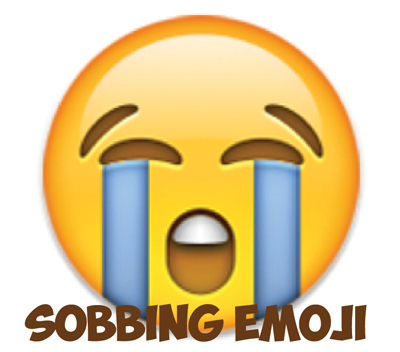 Learn how to draw sobbing emoji face
