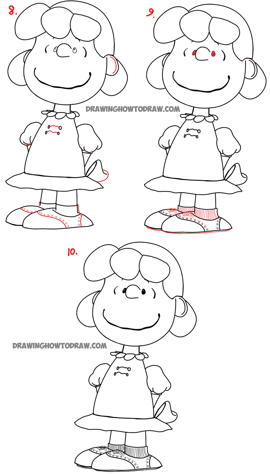 Learn how to draw Lucy from the new Peanuts Movie