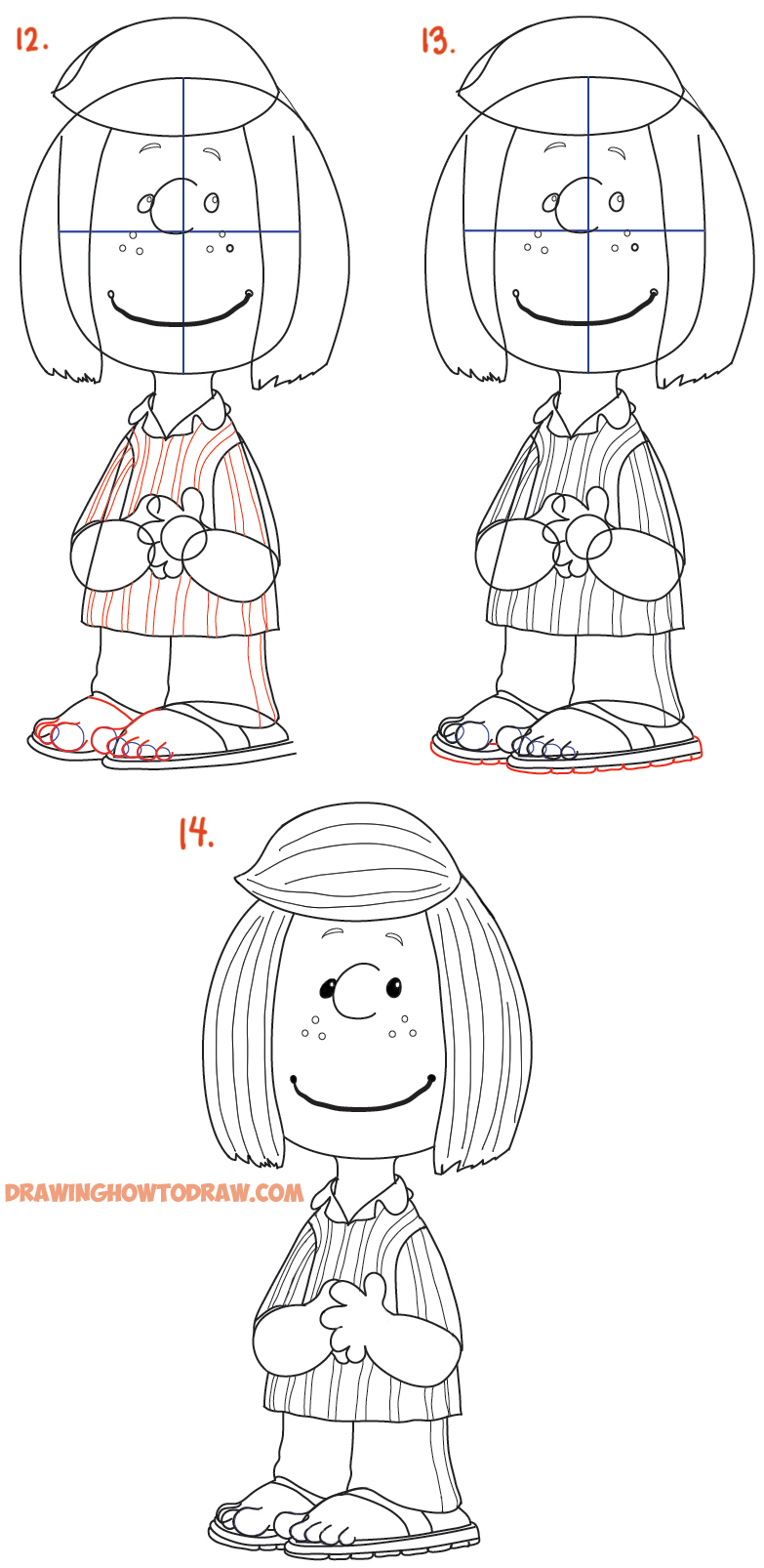 Learn how to draw Peppermint Patty from the new Peanuts Charlie Brown Movie