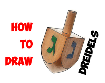 learn how to draw a dreidel
