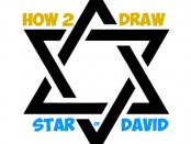 Learn how to draw the star of david or the jewish star