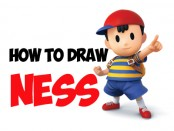 learn how to draw ness from super smash bros.