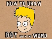 How to Draw Cartoon Boy from Word Boy Lesson for Children