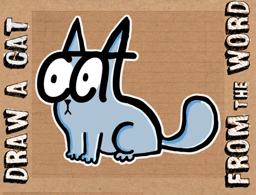 learn how to draw a cat from the word cat tutorial for children