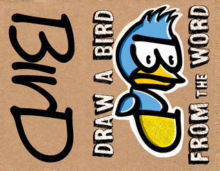 learn how to draw a bird from the word BIRD tutorial for children