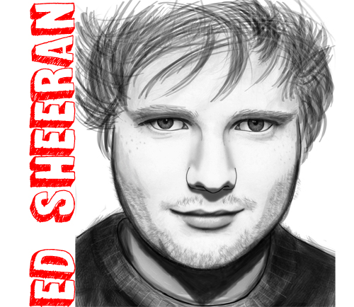 how to draw ed sheeran