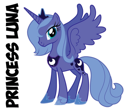 how to draw princess luna from my little pony