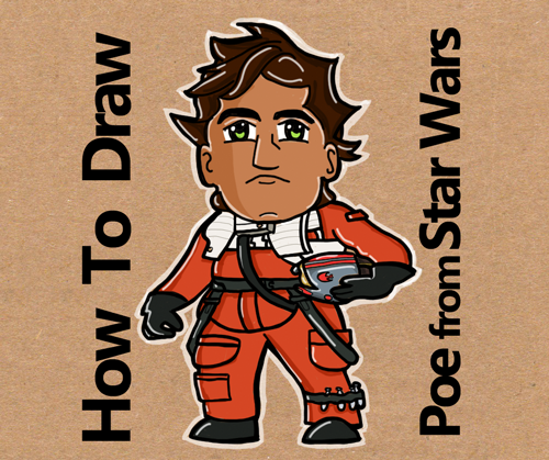 how to draw poe from star wars the force awakens