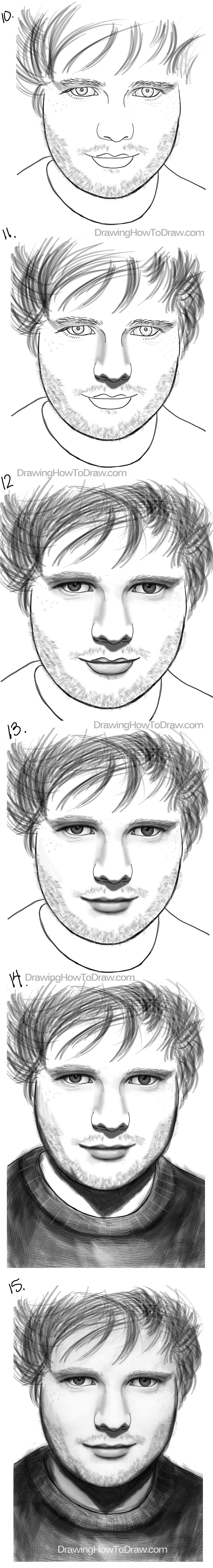 learn how to draw ed sheeran with simple steps tutorial