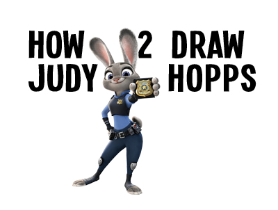 Learn how to draw Judy Hopps Bunny Cop from Zootopia