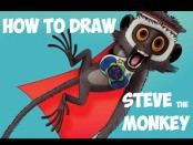 learn to draw steve the monkey from cloudy with a chance of meatballs drawing lesson