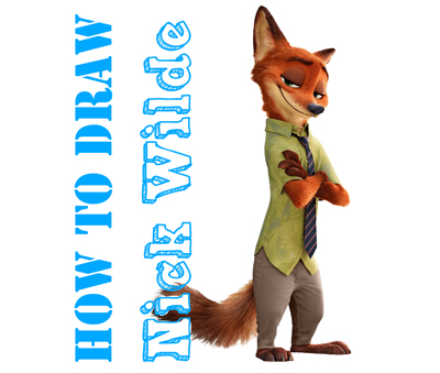 How to Draw Nick Wilde from Zootopia Easy Step by Step Drawing Tutorial