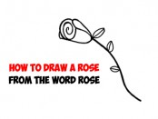 rose, roses, how to draw a rose, how to draw roses, rose from word rose, drawing for kids