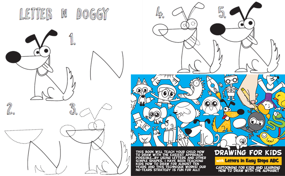 Our New Drawing Book for Kids - Learn How to Draw with Letters