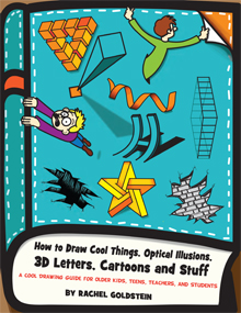 how to draw cool stuff, cool things, optical illusions, 3d letters drawing tutorials for kids