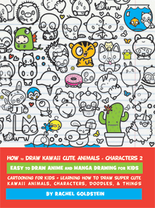 how to draw kawaii cute animals characters things and food book for kids 2