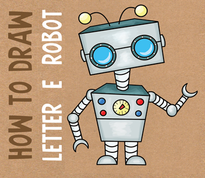 How to Draw Cartoon Robots Drawing Lesson