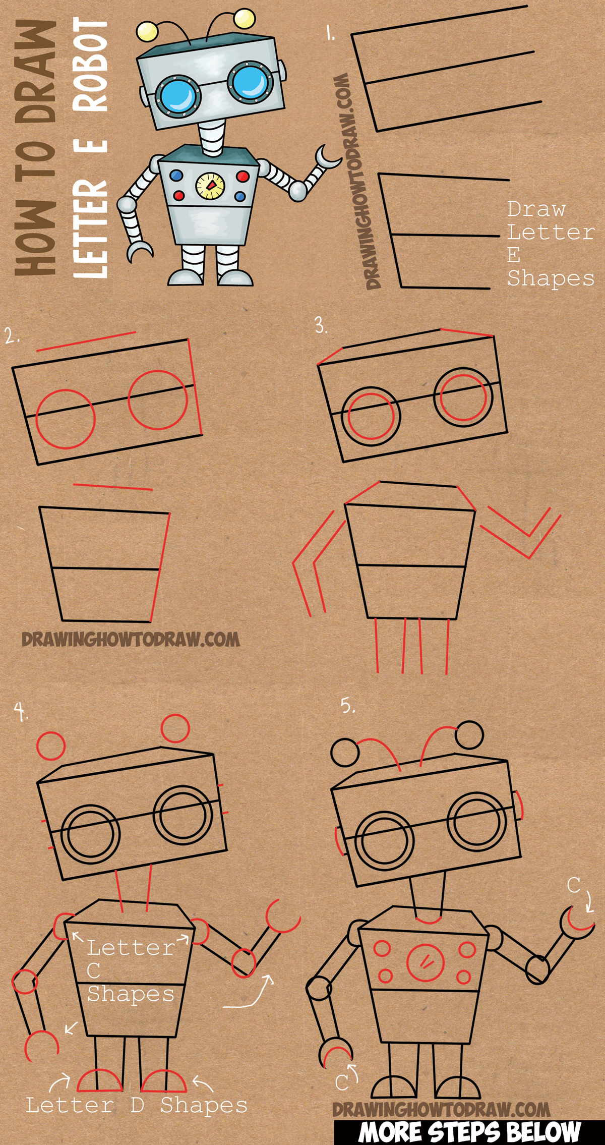 Drawing robots archives how to draw step by step drawing for Learn drawing online step by step