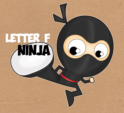 Learn How to Draw Cartoon Ninjas with the Letter F - Easy Drawing Tutorial for Kids