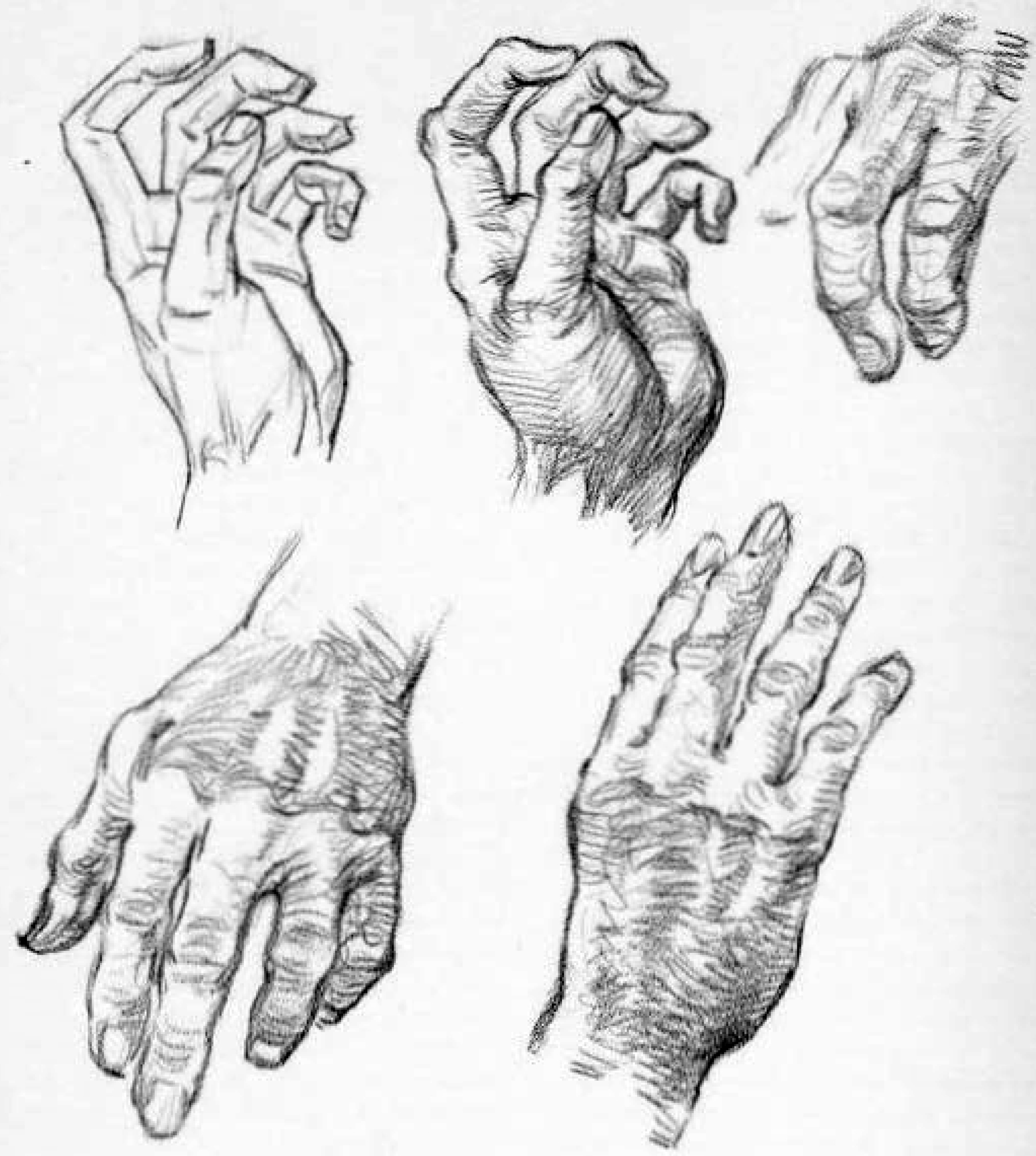 drawing old peoples hands