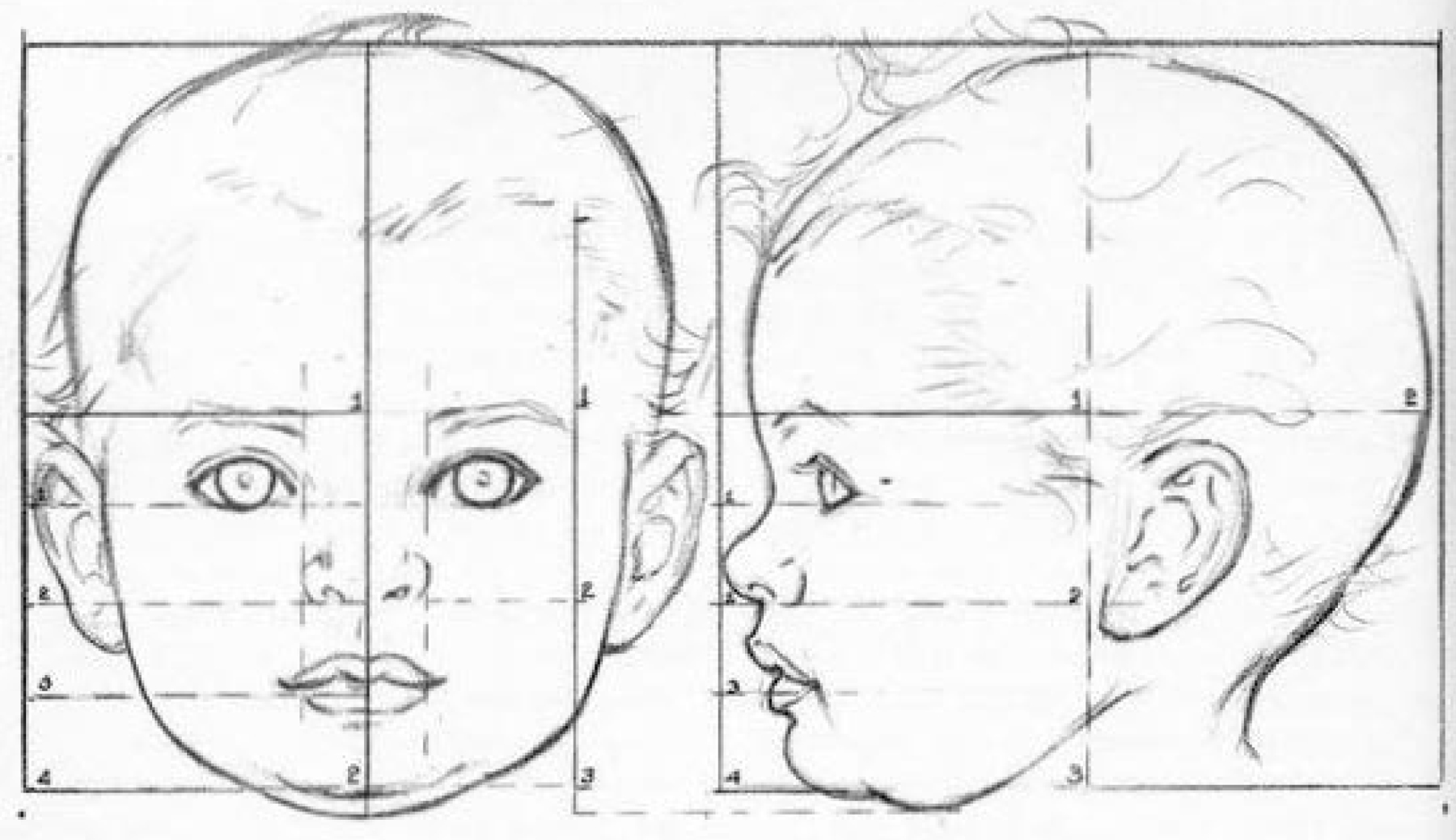 How to Draw Baby and Toddlers Heads in The Correct Proportions ...