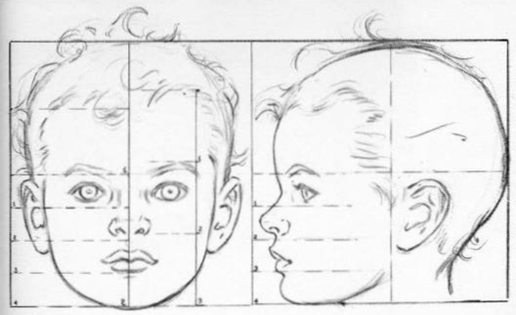How to Draw Baby and Toddlers Heads in The Correct Proportions - Drawing Babies