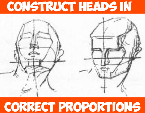 How to Draw Human Head in the Right Measurements and Proportions