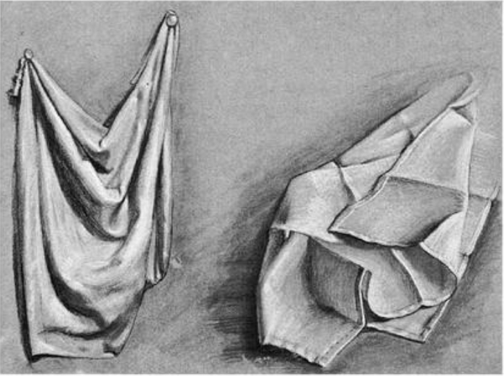 drawing wrinkles, drapery, folds