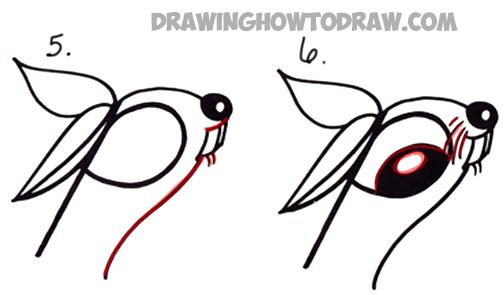 How to Draw Cartoon Bunny Rabbit from Lowercase Letter r in Easy ...