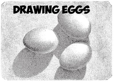How to Draw and Shade Eggs : Shading a Group of 3 Eggs Drawing Tutorial