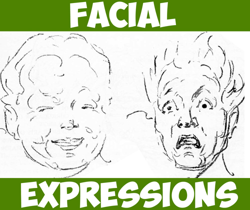How to Draw Facial Expressions and Emotions - Drawing Tutorial