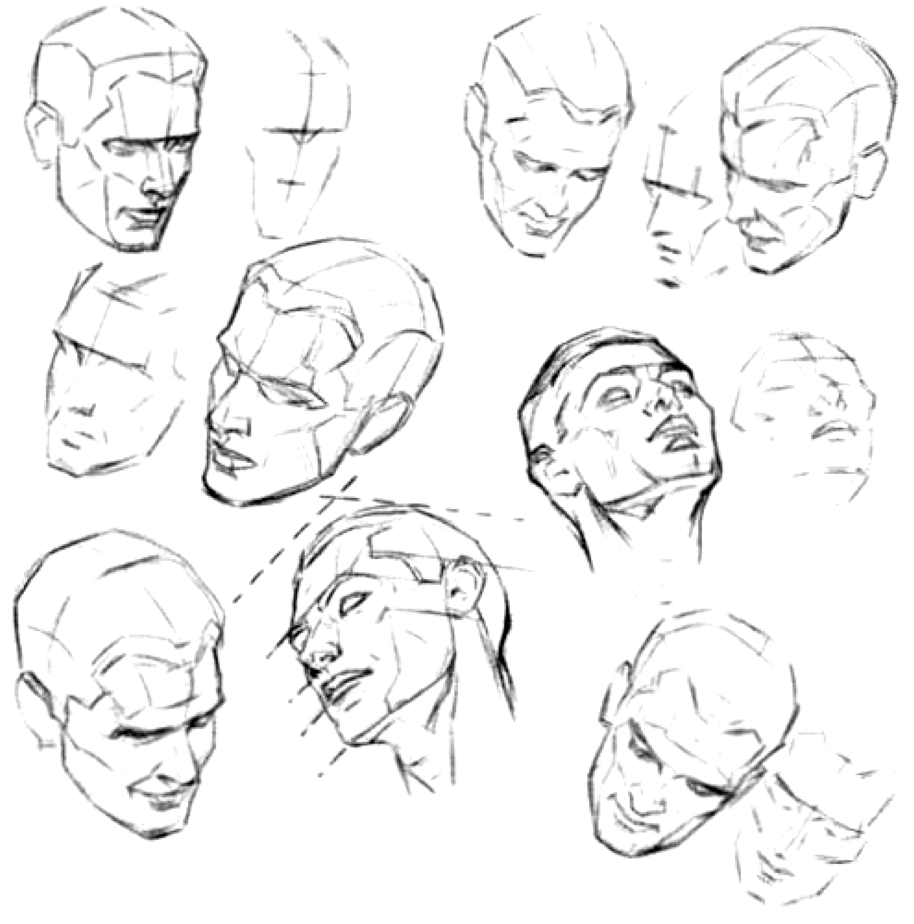 How To Draw The Face And Head In Perspective To Keep Correct
