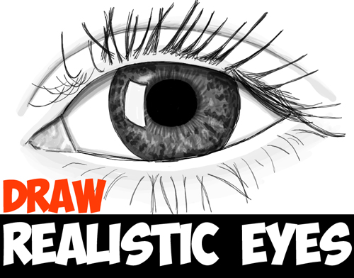 learn how to draw realistic eyes