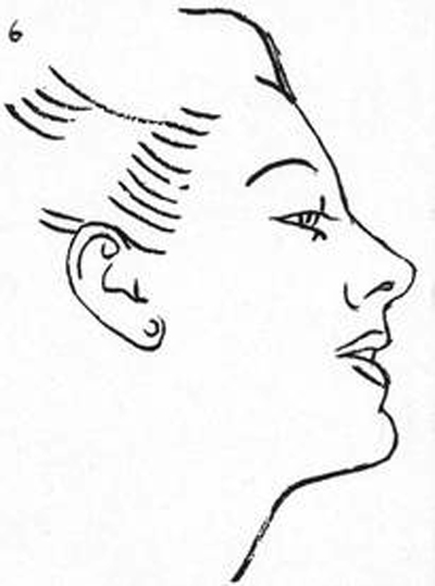 drawing-the-head-Erase your guide lines and soften your outlines so it will be easy to draw over them.