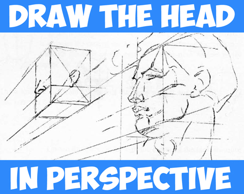 How to Draw the Head in Perspective : Drawing Human Head in Perspective