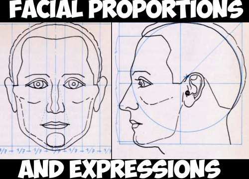 How to Draw the Human Head in the Right Proportions and Measurements - Facial Expressions
