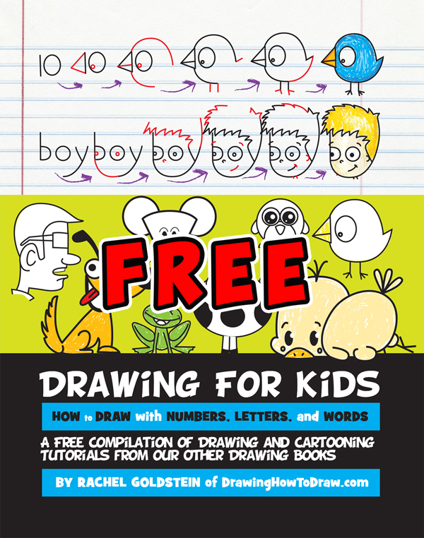 free drawing activity book for kids, preschoolers, kindergartners and children of all ages