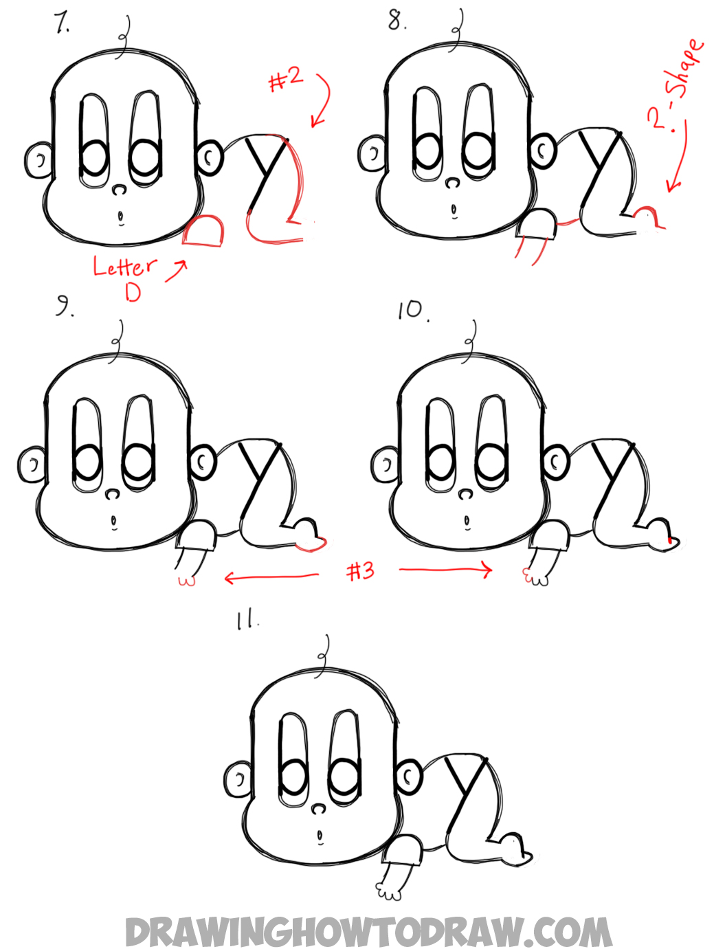 Alphabet letters numbers drawing archives how to draw for Cartoon sketches step by step